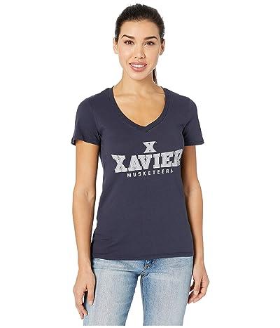 Champion College Xavier Musketeers University V-Neck Tee (Navy) Women
