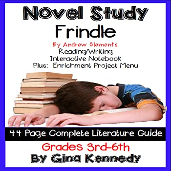 Novel Study- Frindle by Andrew Clements and Project Menu
