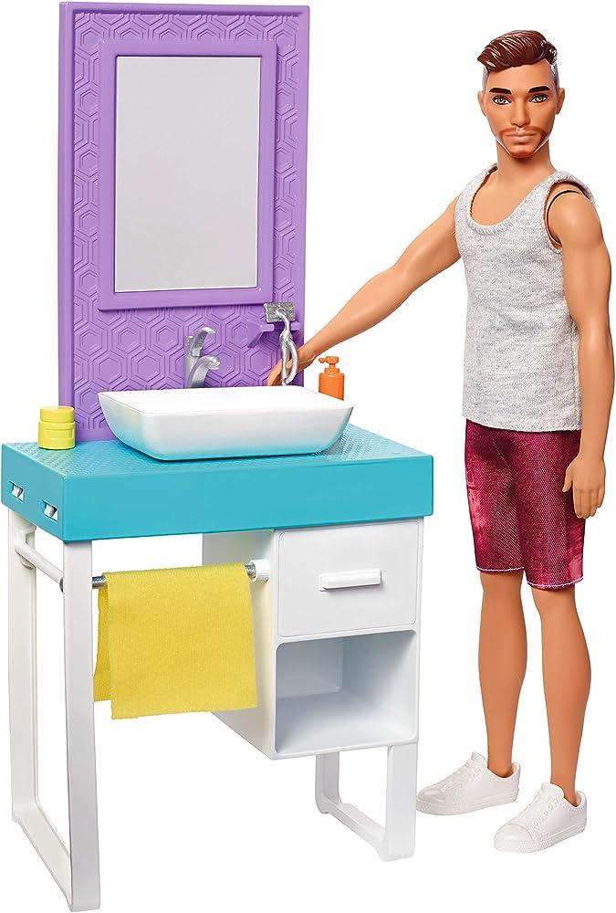 Barbie, playset il bagno di ken FYK53