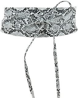 Jasgood FASHION WOMEN/'S Hollow Flower Design Vera Pelle Cuoio ampia in vita