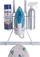 Organize It All Ironing Board Hanger with Storage, Wall-Mount/Over-The-Door, 1 Pack, White