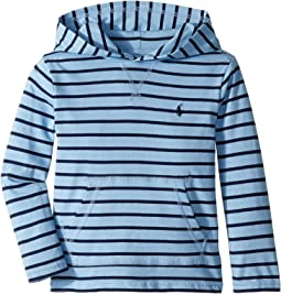 Striped Cotton Jersey Hooded T-Shirt (Little Kids/Big Kids)