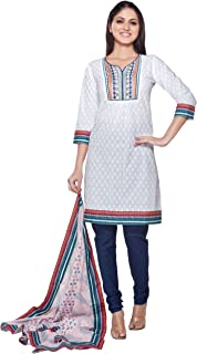 Women's Indian 3-Piece Ensemble with Embroidered Yoke