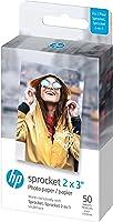 HP Sprocket Premium zink fotopapier met zelfklevende achterkant, 2x7,6 cm (50 vellen) compatibel met HP Sprocket...