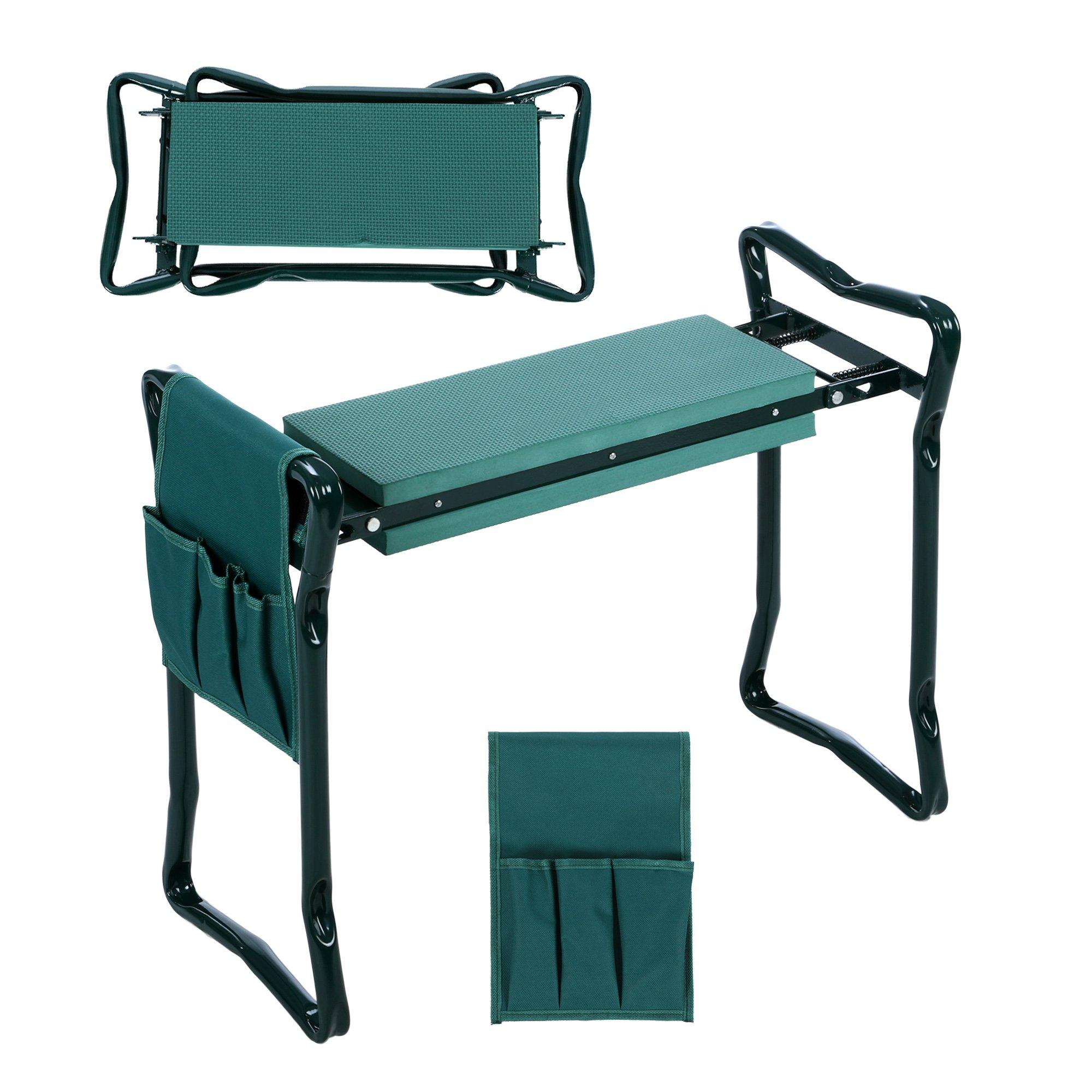 Homdox Reclinatorio asiento de jardín plegable cojines para rodillas taburete banqueta almohadilla de rodillas: Amazon.es: Jardín