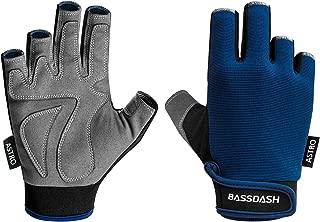 Bassdash Astro Heavy-Duty Sure Grip Fishing Cycling Gloves Men's Women's Fingerless Gloves for Game Fishing Kayaking Paddling Sailing MTB