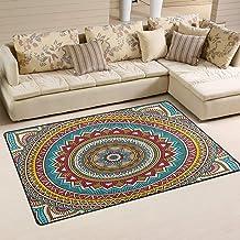 Indian Mandala Vintage Decorative Red and Yellow Doormat Floor Mat Rug Indoor/Outdoor/Front Door/Bathroom Mats 23.6 x 15.7...