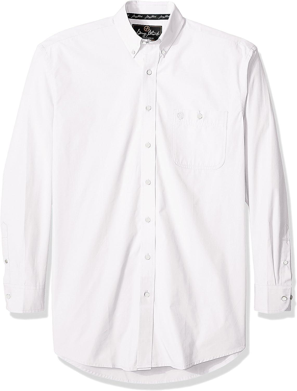 Wrangler Men's George Strait One Great Time sale interest Pocket Woven Long Sleeve Button