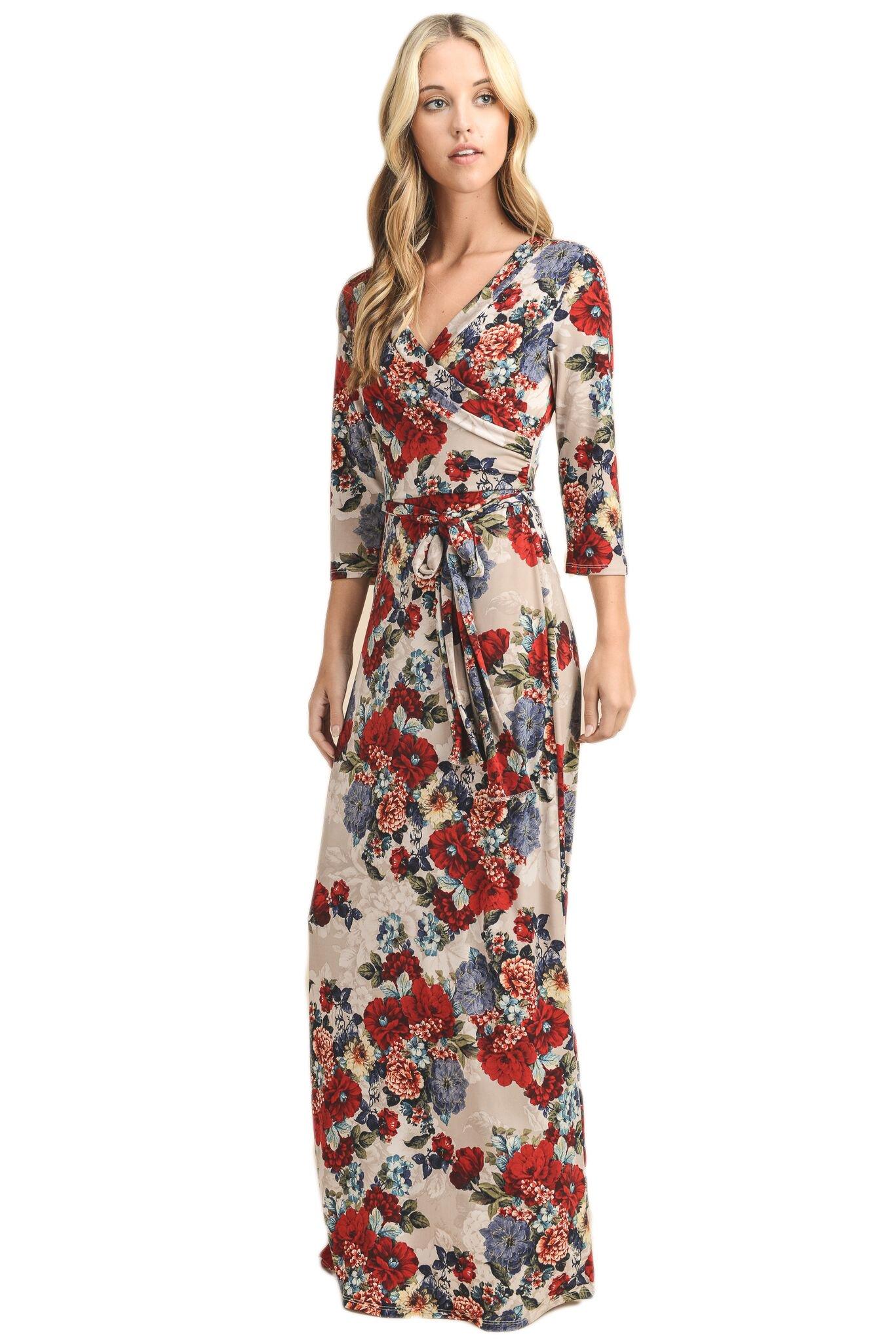 Available at Amazon: Vanilla Bay Full Length Wrap Maxi Dress