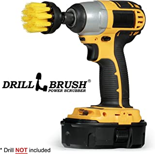 Power Drill Attachment Scrub and Cleaning Brush for Cleaning Bathroom Surfaces, Tile and Grout, Hard Water Stains, Rust and Mineral Deposit Removal