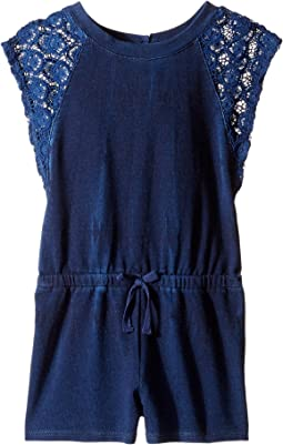 Indigo Baby French Terry Romper w/ Lace (Toddler)