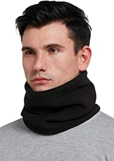 Mojing Men & Women Fleece Neck Warmer Windproof Snood Winter Thermal Neck Gaiter Tube for Cycling Motorcycle Ski Face Mask