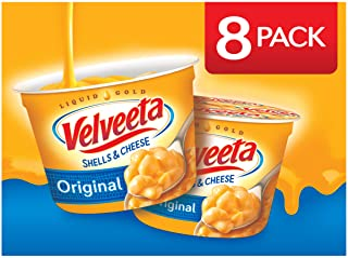 VELVEETA Original Microwavable Shells & Cheese Cups, 8 Count Box | Single Serving Cups with Delicious Velveeta Cheese Sauc...
