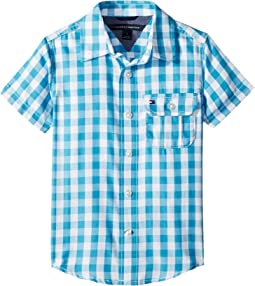 Tommy Hilfiger Kids - Short Sleeve Ryan Yarn-Dye Plaid Shirt (Toddler/Little Kids)