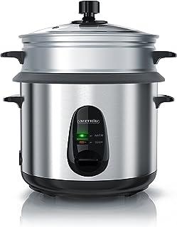 arendo - Cuiseur à Riz Multifonctions en Acier Inoxydable - cuiseur à la Vapeur - cuiseur de Riz électrique 500Watt - 1,5 ...