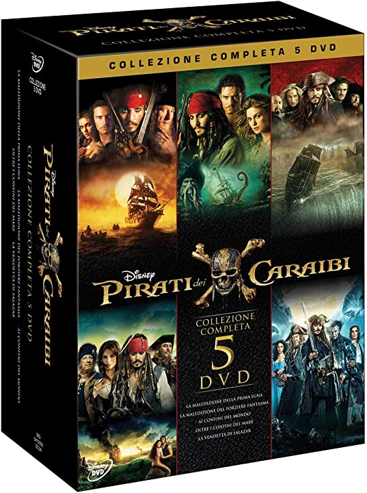 Pirati dei caraibi collezione (5 dvd) johnny depp keira knightley orlando bloom- disney studios B0741TMK35