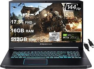 2021 Flagship Acer Predator Helios 300 ゲーミングノートパソコン 17.3インチ FHD 144Hz IPSディスプレイ 第10世代 Intel 6コア i7-10750H 16GB RAM 512GB S...