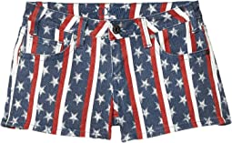 Low Rise Shorts Printed Stars & Stripes in Light Navy 68-5308