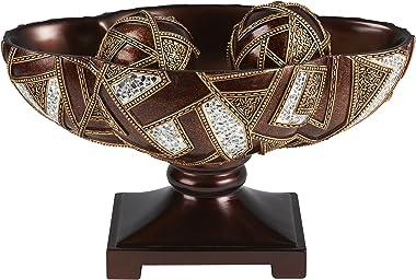 "OK Lighting 10"" H Polymosaic Decorative Bowl with Spheres"