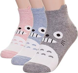 Calcetines de gato para mujer, diseño de búho Animación - Totoro 3pcs talla única