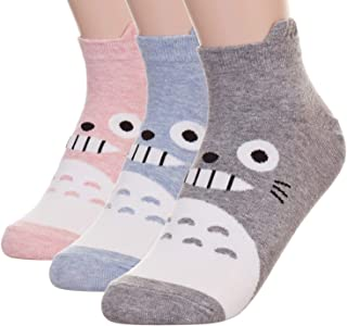 Womens Cat Socks – Crazy Cute Animal Dog Owl Print Crew Novelty Fun Funny Gift