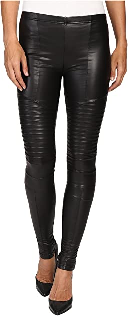 Plush - Fleece-Lined Full Liquid Moto Leggings