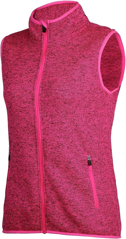 SPOEAR Zip Up Womens Vest with Zipper Pockets Athletic Sweater Fleece Vest Sleeveless Sweater Jacket(Pink,S)