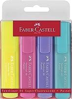 Faber-Castell 154610 - Textmarker Textlıner 1546 Pastel, 1 - 5 Mm, 4'Lü Paket, İçerik: 1X Sarı, Yeşil, Fuşya Ve Lila