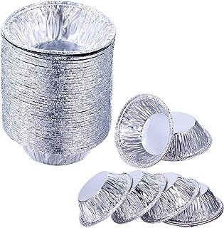 200 Pieces Aluminum Foil Pie Pans Disposable Mini Pie Pans Small Tin Pans Tart Pie for Baking Supplies