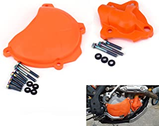Water Pump + Engine Case Clutch Cover Guard Protector For KTM 250 SXF 350 XCF XCFW 13-15 250 EXCF XC-F XCF-W 14-15 350 SX-F 11-15 350 EXC-F Freeride 12-15