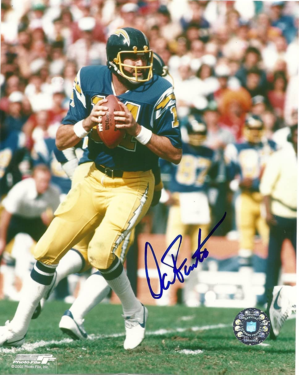 Dan Fouts, San Diego Chargers, Oregon Ducks, Hall of Fame, Hof, Signed, Autographed, 8x10 Photo, Coa, Rare Hard Photo to Find