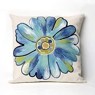 Liora Manne Mystic III Flower Power Aqua Indoor/Outdoor Pillow