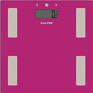 Salter Personenweegschaal lichaamsanalyseweegschaal met memoiren/analyse body roze