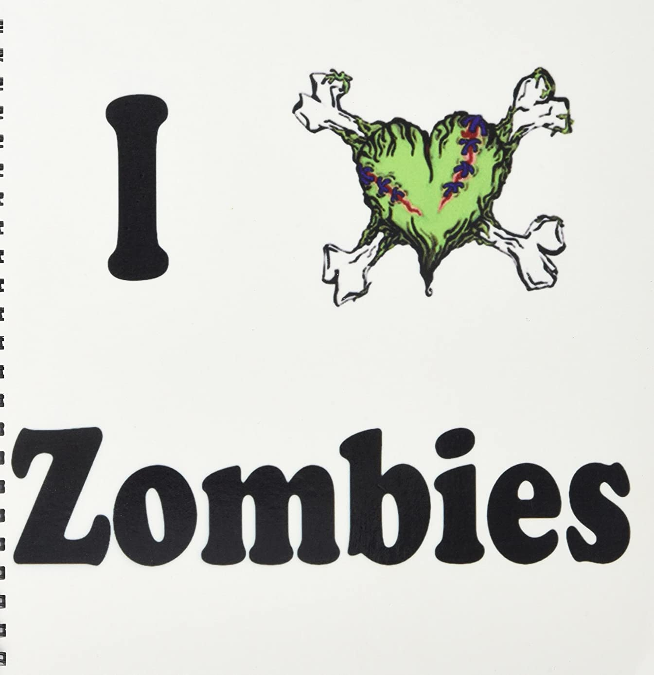 3dRose db_157432_1 I Love Zombies Drawing Book, 8 by 8-Inch