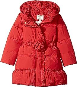 Kate Spade New York Kids - Rosette Puffer Coat (Toddler/Little Kids)