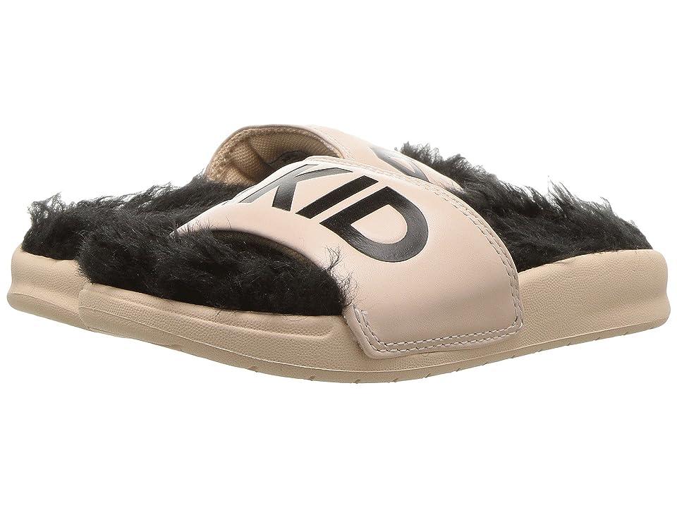 Image of AKID Brand Aston (Infant/Toddler/Little Kid/Big Kid) (Nude/Black Faux Fur) Girls Shoes