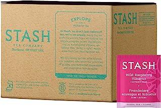 Stash Tea Wild Raspberry Hibiscus Herbal Tea 100 Count Box of Tea Bags in Foil (packaging may vary) Individual Herbal Tea ...