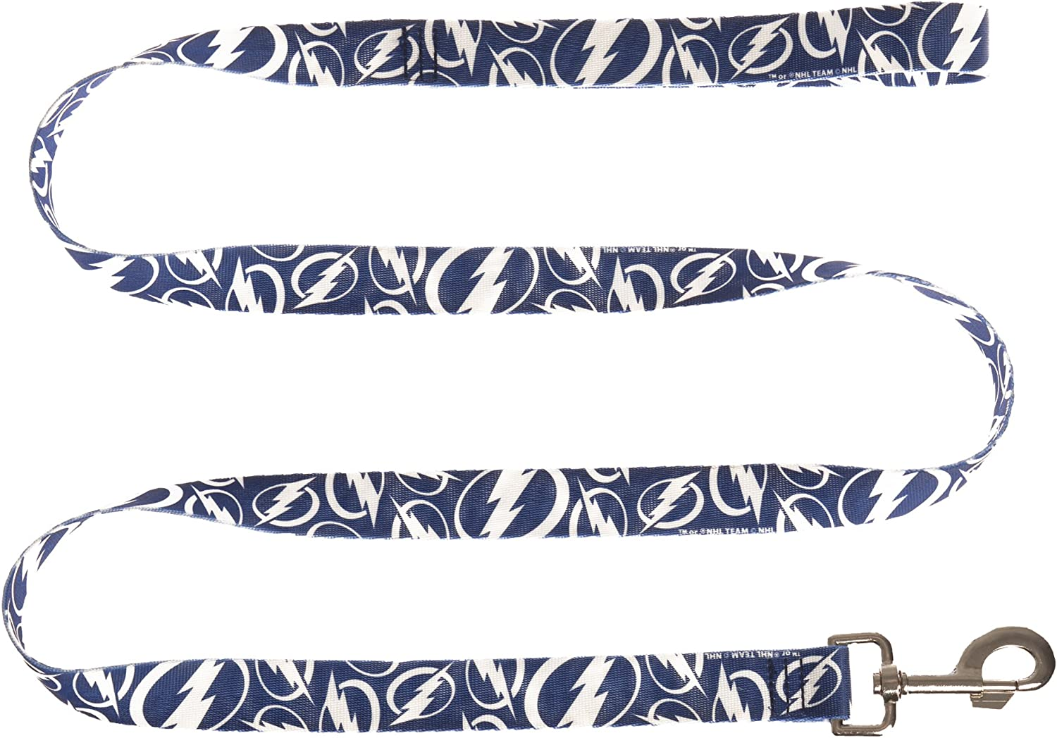 Be super welcome Littlearth NHL Tampa Bay Lightning Team Pet Max 81% OFF Dog - Lead Polyester