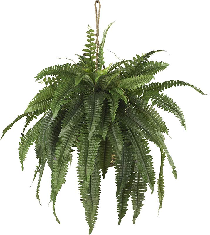 Nearly Natural 6774 22in Large Boston Fern Hanging Basket