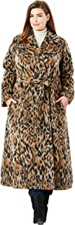 Jessica London Women's Plus Size Wool-Blend Wrap Coat