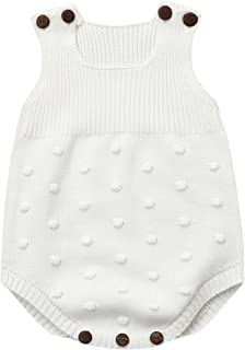Longra Ropa Bebé Unisex Mameluco de Bebé de Otoño e Invierno Ropa de Niños De Punto