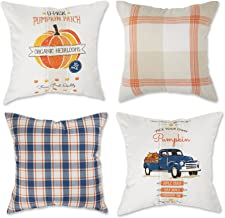 DII Throw Pillow Cover Collection Decorative Square, 18x18, Autumn Print 4 Piece