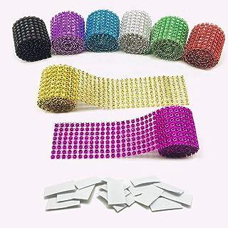comprar comparacion Allazone - Cinta acrílica con brillantes 8 couleurs