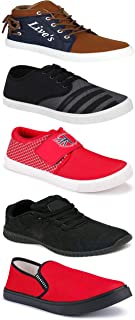 WORLD WEAR FOOTWEAR Sports Running Shoes/Casual/Sneakers/Loafers Shoes for MenMulticolors (Combo-(5)-1219-1221-1140-725-678)
