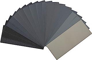 Bates- Sandpaper, 18 Pack, Assorted Grit, Sandpaper Assortment, Sand Paper, Sandpaper for Metal, Sandpaper for Wood, Autom...