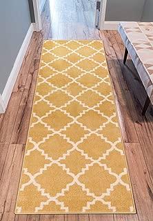 Well Woven Sydney LuLu's Lattice Gold Modern Geometric Trellis Area Rug 2'7
