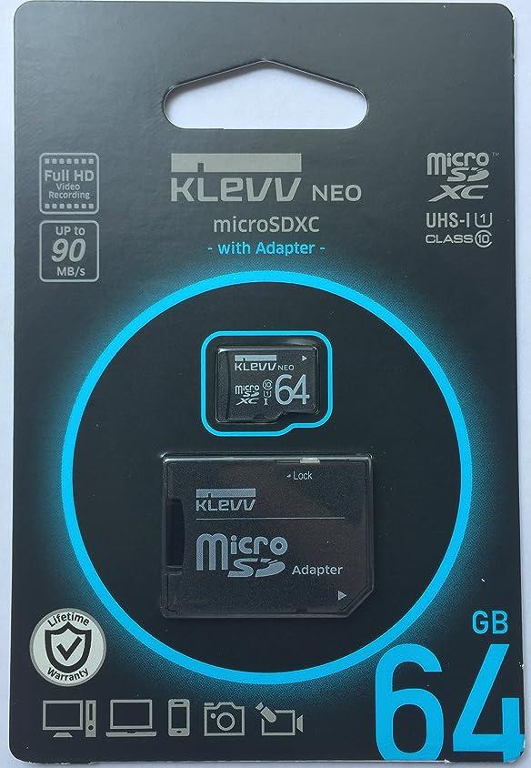 厚さ核豊かなエッセンコア クレブ microSDXC メモリカード 64GB Class10 UHS-I SD 変換アダプタ 付属 永久保証 U064GUC1U18-DK