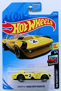 Hot Wheels 2019 Basic Mainline Hw Roadsters - Corvette Grand Sport Roadster [Yellow/Black]