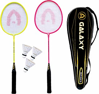 Bipan's Badminton Pro Practice Galaxy Racket Set (Aluminium)