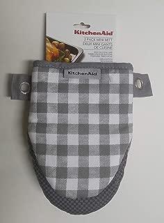 KitchenAid 2 Pack Square Silver Gray Mini Mitt
